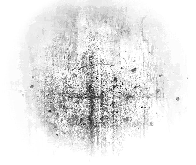 Grunge monochrome painted abstract pattern background