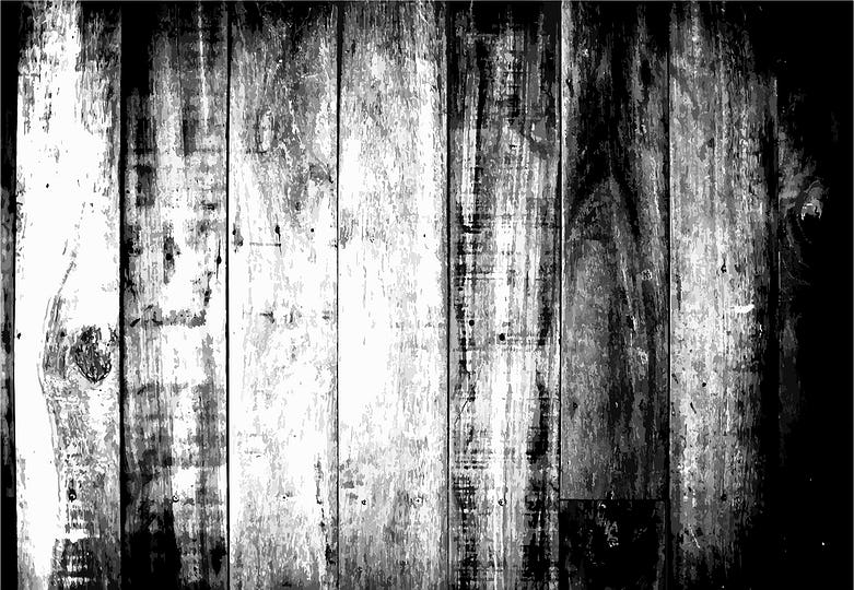 Old black and white wooden textured pattern background