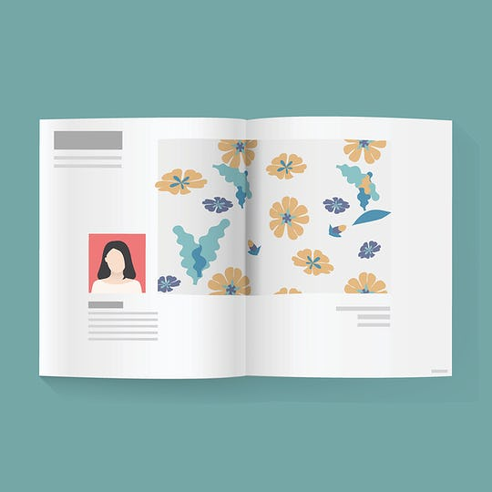 Magazine news article vector illustration