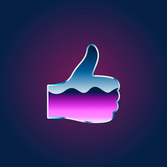 Thumbs up Like Icon Symbol Illustration Concept