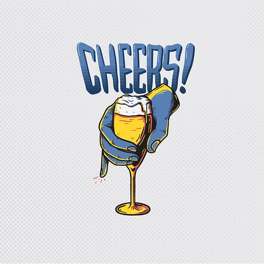 Cheers Celebration Artwork Vector Concept