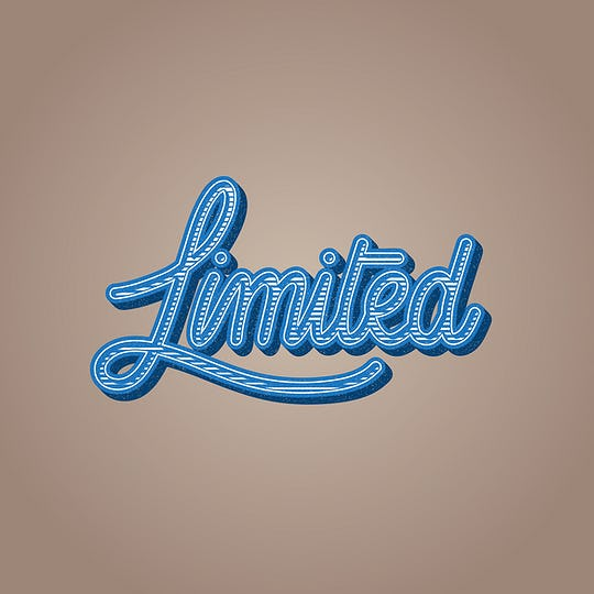 Limited Word Illustration Typography Concept