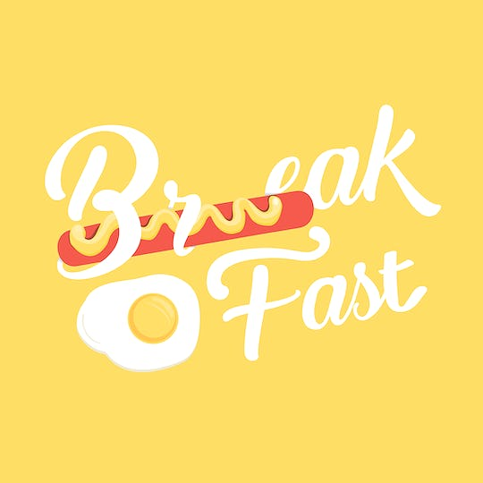 Breakfast Word Egg Icon Concept