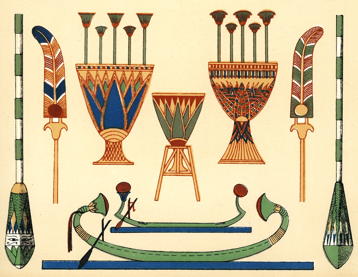 Antique illustration of the grammar of ornament by Owen Jones
